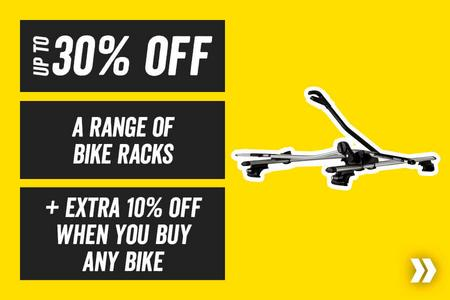 Up to 30% off a range of bike racks